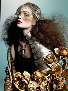 Pictorial Vogue Italia September 2005 Lily Cole, Marina Pérez Photographer: Richard Burbridge