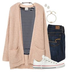 Untitled #203 by simplysarahkate on Polyvore featuring MANGO, American Eagle Outfitters, Converse and Kendra Scott