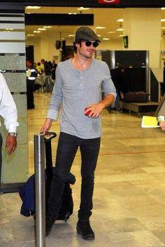 Ian Somerhalder in Mexico City airport - May 27, 2014