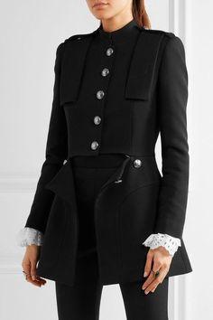 Alexander McQueen - Cutout Wool And Silk-blend Jacket - Black - IT46