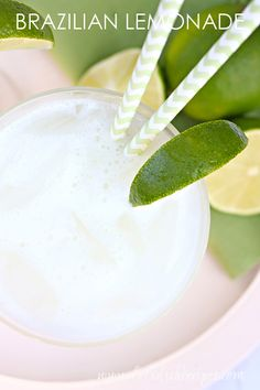 Brazilian Lemonade Recipe | Made with limes, this Brazilian Lemonade is so refreshing!