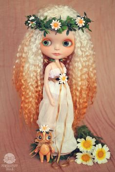 Meadowdaisy beauty -OOAK Blythe Doll from Powderpuff Dolls
