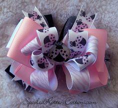 <3 Printed custom Zebra Ladybug ribbon using T-shirt transfer paper <3