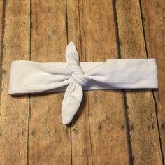 White Baby Girl Knot Headband - Baby Headwrap - Baby Tie Knot Head Wrap - Turban Headband - Fabric Baby Headband by BBgiftsandmore on Etsy