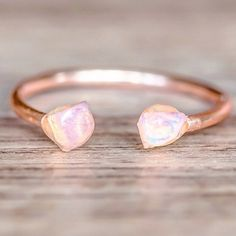 NEW || Rose Gold Little Raw Opal Ring || Available in our 'NEW' Collection || www.indieandharper.com