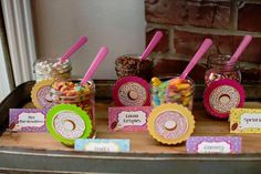 Toppings Bar from a Donut Themed Birthday Party via Kara's Party Ideas! KarasPartyIdeas.com (20)