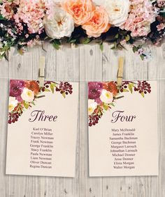 Perfect for the DIY Bride! Rustic Burgundy DIY Table Arrangement Banner. Perfect for Fall Weddings! https://www.etsy.com/listing/467929738/wedding-seating-chart-template-diy