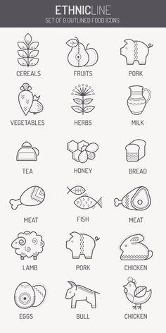 HEALTHY FOOD Line Vector Icons & Logo Design on Behance