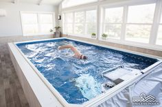 Abundant natural light floods this Endless Pool sunroom - for year-round swimming no matter the weather.