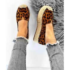 Kelly εσπαντρίγιες flatform λέοπαρ Moccasins, Espadrilles, Flats, Image, Shoes, Fashion, Clothing, Penny Loafers, Espadrilles Outfit
