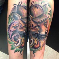 Done at #milanotattooconvention yesterday #theatattoo #the_inkmasters #thebesttattooartist #tattoo_art_worldwide #tattooistartmagazine #newschool #fox #tatuaggio #iltatuaggio #colortattoo #fullcolor #femaletattooartist #ink