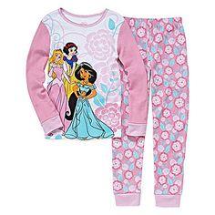 jcp   Disney Collection 2-Pc. Princess Long-Sleeve Cotton Pajama Set Christmas Presents For Girls, Cotton Pyjamas, Pajama Set, Wetsuit, Graphic Sweatshirt, Princess, Sweatshirts, Long Sleeve, Disney