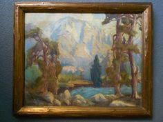 Fine Antique Marion Kavanaugh Wachtel Original by PacificFineArt Western Landscape, California Art, Sierra Nevada, Landscape Paintings, Landscapes, Painting Frames, Impressionist, Art Boards, Framed Art