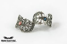 Filigree Knuckle Ring with Swarovski by Nocturne