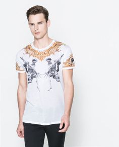 BAROQUE PRINTED T-SHIRT from Zara