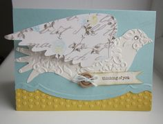 Elegant Bird die, Adorning Accents embossing folders and Edgelit dies, and some more of the Attic Boutique