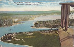 Postcard California San Diego North Island Coronado from Aeroplane Aerial Ca1910 | eBay