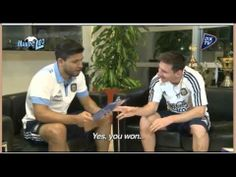 Very funny; Aguero Interview to Messi : hidden Camera!
