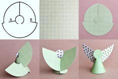 etapes DIY ange en papier