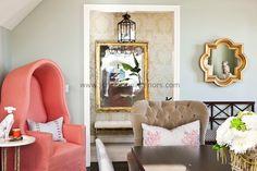 Color Crush: Coral via La Dolce Vita | Dining Room by Jennifer Dyer