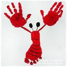 Lobster foot & hand print