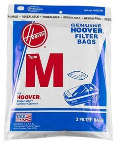 Fits All #Hoover® Dimension™ Cleaners Package 4010037M Limited Warranty to Consumers Good Housekeeping Promises Replacement or Refund if Defective Made in U.S.A...