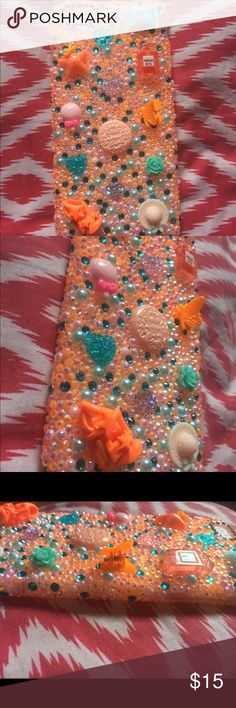 3D Bling Orang iPhone 6/s Plus Soft Cabochon Case 3D iPhone 6/s Plus SoftCase.  Super cute embellishments. Be one of a kind with this phone case.  Rare.Lavish design. One of a Kind!!  ❄️  Handmade from durable high quality plastic materials, luxury crystal rhinestone and durable glue.  Won't fall off with proper care!  Colors same as photo Accessories Phone Cases
