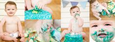 Cake smash for a 1 year old.  Photography By Rikki-Lee of  Pregnant Memories