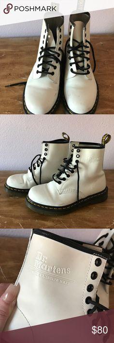 White Doc Martens White Doc Martens. Size 6. Dr. Martens Shoes Combat & Moto Boots