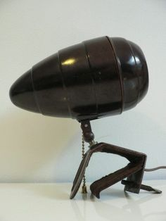 Rare vintage 1940s streamline spot lamp 1930s bakelite lamp art deco lamp $165.00 USD
