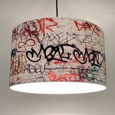 """The S 3rd 16"""" Pendant Lamp from RE-SURFACE brings a little bit of Brooklyn into any space. The shade features a printed photographic collage generated from street photos taken in Brooklyn and includes a 15-foot cord for the perfect drop."""