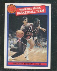 RARE MICHAEL JORDAN ORIGINAL 1984 USA OLYMPIC XRC ROOKIE CARD