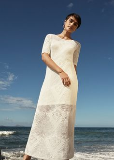 #esprit #spring17 #lookbook with @jilla.tequila #crochetdress #white