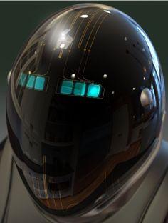 JOJO POST DIGI: HELMET, Cyberpunk, Android, Robot, Futuristic, Sci-Fi, Military…