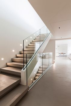 Modern Staircase Design Ideas - Modern stairs can be found in lots of styles and designs that can be real eye-catcher in the various location. We've assembled best 10 modern models of stairways that can give. Home Stairs Design, Interior Stairs, Home Interior Design, Interior Architecture, House Design, Room Interior, Staircase Design Modern, Glass Stairs, Glass Stair Railing