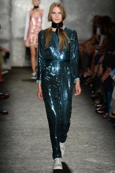 Glitter Jumpsuit! @Marc Camprubí Jacobs Intl Marc by Marc Jacobs Spring 2014 Ready-to-Wear