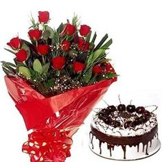 Gift this wonderful combination of red roses and cake to your lovable person