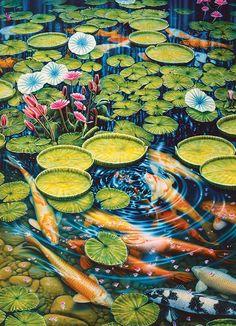 Koi Pond Fish Jigsaw Puzzle