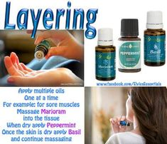Sore Muscles Layering: Young Living Essential Oils