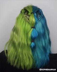 Cooles Braid Style Tutorial For more braid videBr – unterhellt Haare Side Braid Hairstyles, Loose Hairstyles, Braid Styles, Short Hair Styles, Underlights Hair, Wedding Hair Inspiration, Cool Braids, Fantasy Hair, Hair Color Dark