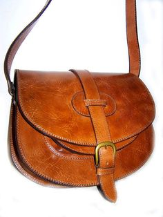 cross body leather messenger bag w/adjustable shoulder strap in tan from chicleather in Morocco, on etsy