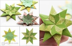 Another nice paper star: Origami Star Corona Grande