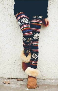 Adorable leggings uggs great fall winter outfit | Fashion World