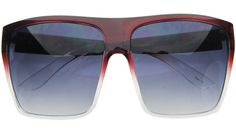 Two-Tone Red Oversized Sunglasses | $10.99 at RetroCitySunglasses.com Oversized Sunglasses, Retro, Rustic