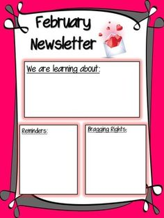 Valentine S Themed Newsletter Template on valentine newsletter ideas, valentine newsletter templates for teachers, valentine's newsletter template,