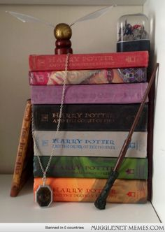My Potter bookshelf display, almost complete! >>> I thought I was the only one :)
