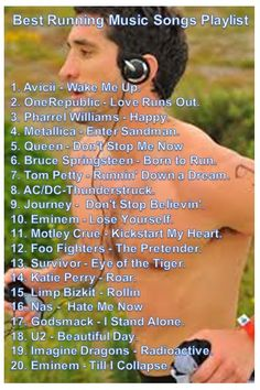 Best Running Songs Playlist http://www.runningmadeasy.com/best-running-music/best-running-songs-playlist/