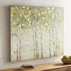 Fresh Birch Trees Art