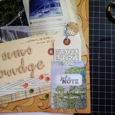 Stitched pocket & journaling printed on a tag in Word.
