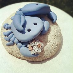 Custom Blue Crabs Wedding Cake Topper by theaircastle on Etsy, $180.00